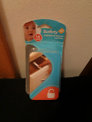 Safety 1st NIP White Cabinet and Drawer Latches  14-Pack Package
