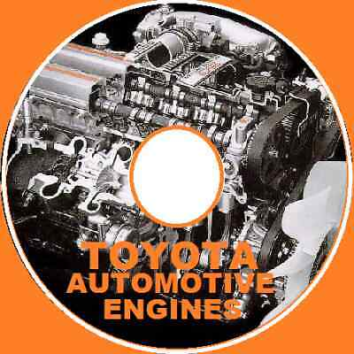 Toyota Engine Workshop Repair Manual Petrol Diesel 4Age 1Fzfe 1Vdftv +More Cd