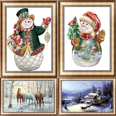 Snow Pattern DIY 5D Diamond Painting Kitten Cross Stitch Kits Home Decor Craft