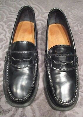 452bd75da6b Women s Weejuns GH BASS Leather Black Penny Loafers Shoes Size 6m