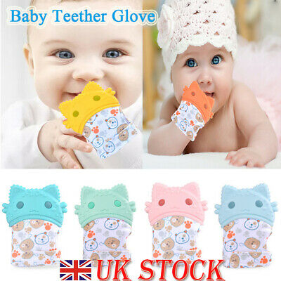 Silicone Baby Teething Mitt Teether Mitten Molar Gloves Chew Toy Candy Wrapper
