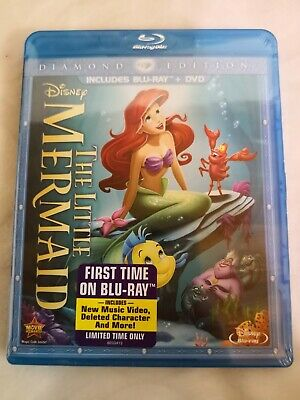 NEW Diamond Limited Edition DISNEY DVD/BLU-RAY: LITTLE MERMAID 2 Disc Special