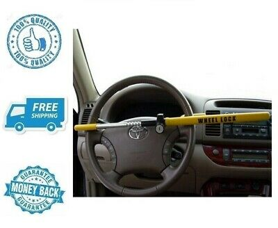 New Yellow Car Steering Wheel Lock Auto Vehicle Anti Theft Safety Security Tool