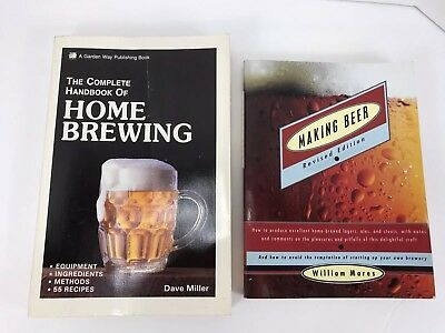 Lot Of 2 Books Making Beer & The Complete Handbook Of Home Brewing