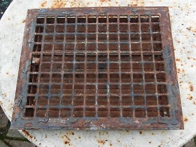 "Antique Vintage Victorian Floor Register Heat Grate 14"" x 12"" inside 12"" x 10"""