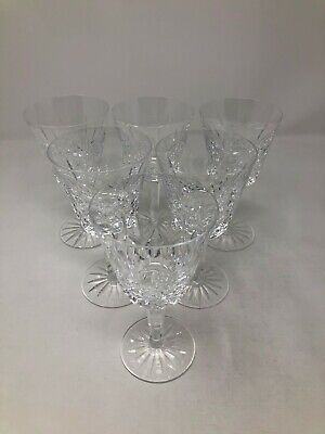 Waterford Crystal Lismore Set of 6 Claret Wine Glasses 5 7/8""