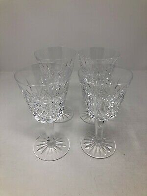 Waterford Crystal Lismore Set of 4 Claret Wine Glasses 5 7/8""