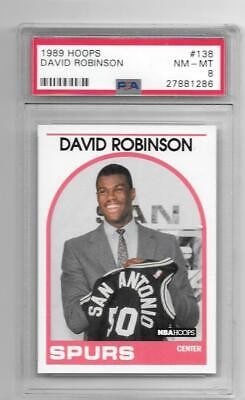 David Robinson 198990 Nba Hoops Rookie Card Rc 138 Graded