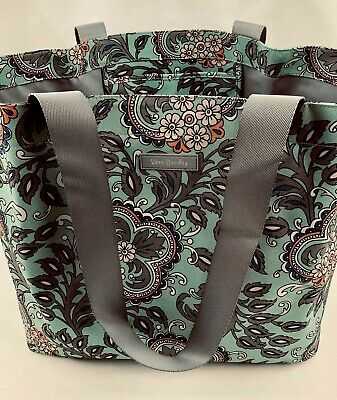 Vera Bradley Lighten Up Large Family Tote Beach Bag FAN FLOWERS New W Tags