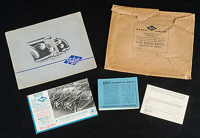 Orig. 1949 RILEY auto brochure ROADSTER, COUPE & SALOON w/owner guarantee card