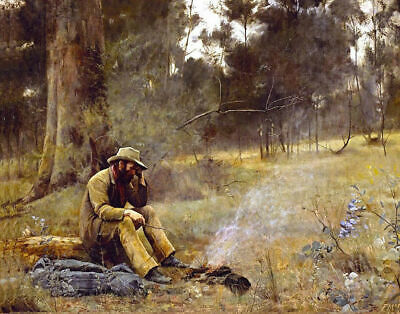 Best Canvas Prints. Down On His Luck - Fredrick McCubbin Framed & Ready to Hang
