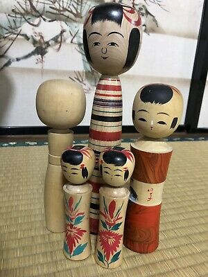 Vintage Japanese Kokeshi Dolls from Naruko in Miyagi Prefecture