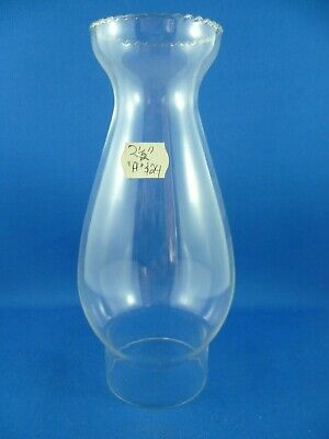 "Glass Chimney (for oil lamps)  frilled 2.5 inches ""A"" new old stock replacement"