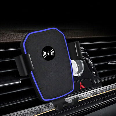 Qi Wireless Car Charger Stand Air Vent Holder Mount For Apple iPhone XS Max XR 8