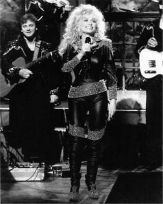 Dolly Parton Black Outfit 8x10 Glossy Photo