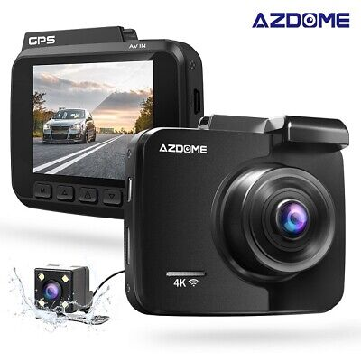 AZDOME HD 4K Autokamera Car DashCam GPS WIFI Weitwinkel Video Record+Rear Kamera