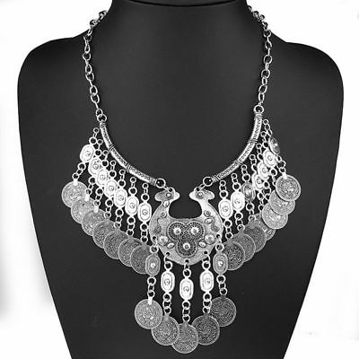 Boho Coachella Ethnic Tribal Bohemian Coin Statement Necklace Free Gypsy People