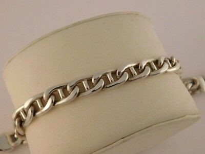 """Sterling Silver Heavy Chain Bracelet Italy Italian 27 Grams Thick Strong 7.5"""""""