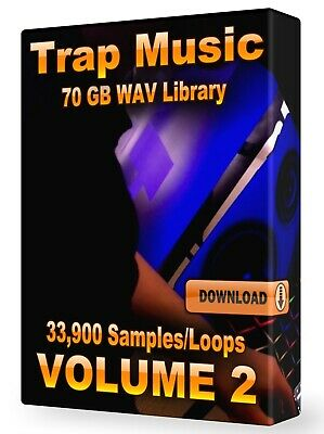 33,200+ Trap WAV Samples Loops Volume 2, Ableton Logic Pro Tools FL Studio Acid