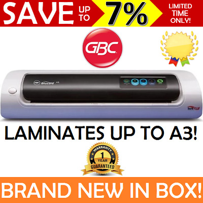 NEW GBC Blizzard A3 A4 Laminator Laminating Machine Office Business Home 1Y WTY