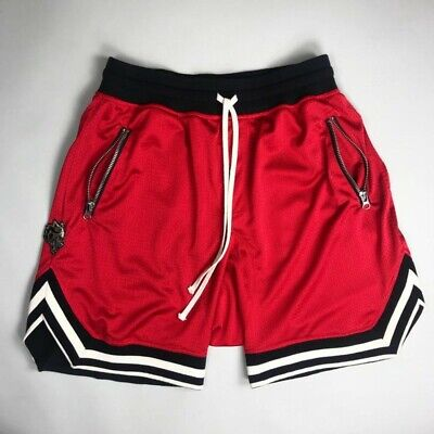 Men's Casual Shorts Mesh Breathable Gym Fitness Basketball Workout Short Pants