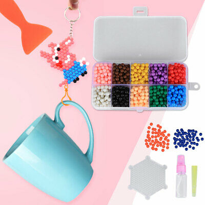 1000pcs DIY Fuse Beads Kit Fun Magic Sticky Fuse Beads Educational Toy for Craft