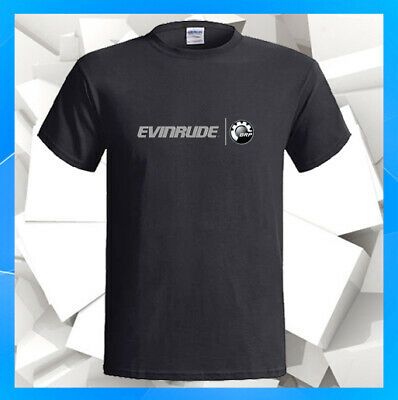 0b1066a80047e Evinrude Outboard Motors BRP Logo Boats NEW Men s Black T-Shirt S M L XL  2XL 3XL