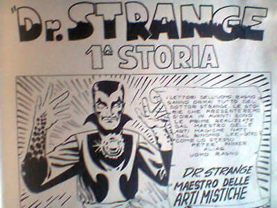 Strange Tales 110 Doctor Strange 1963 First Apparition Italian 1971 Edition