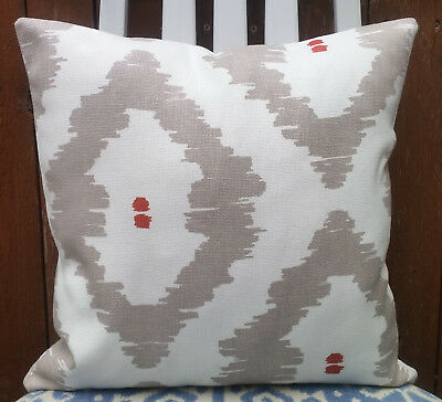 """* John Lewis /""""NIKKO/"""" Cushion Cover Graphic Design Fabric Double Sided 16/"""" Modern"""