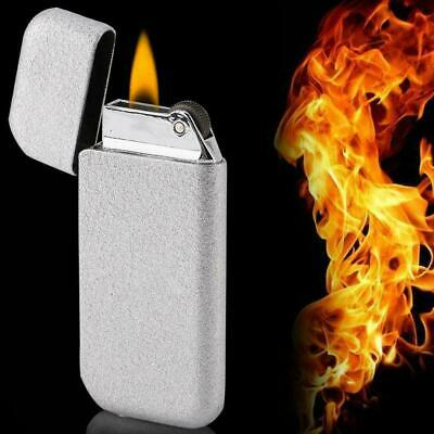 Slim Safe Normal Flame Butane Gas Refillable Metal Cigarette Lighter Without Gas