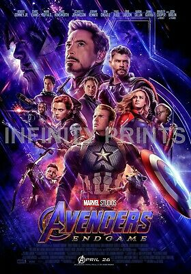 Avengers Endgame Movie Film Poster Various Posters A2 A3 A4
