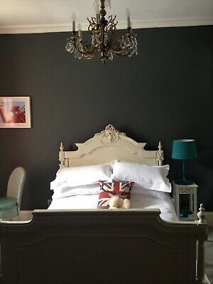 vintage antique shabby chic French double bed