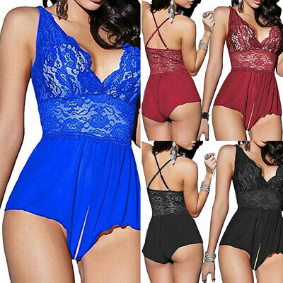 Women Sexy Babydoll G-String Dress Ladies Underwear Lingerie Thong Nightwear HOT