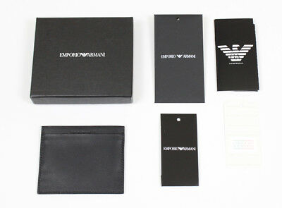 New with tags EMPORIO ARMANI Card Holder Leather Wallet - Gift Idea