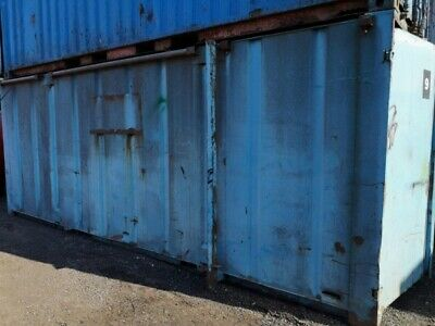 20 ft Long 8 ft Wide Blue Steel Storage Container - Second Hand  - Store
