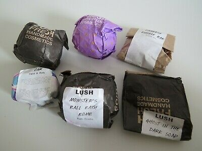 New bundle of 6 LUSH products, ath bombs and bubble bar, soap, moisturizing bar