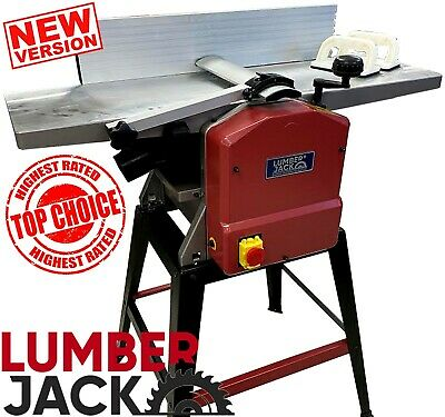 """Lumberjack Professional Wood 10"""" x 5"""" Planer Thicknesser with Legstand 240v"""