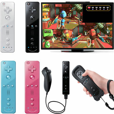 Motion Plus Remote Wiimote Wireless Controller +Wrist+ Case for Wii&Wii U