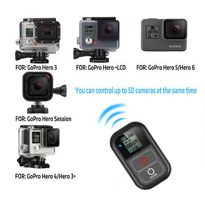 Waterproof WiFi Remote Control for GoPro Hero 7 6 5 4 w/ Charging Cable Cord