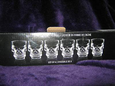 Hallow's Eve Skull Shot Glass~Set 6 ~ Halloween - New in Box