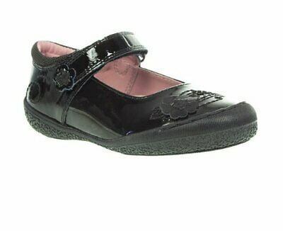 RRP £49 Hush Puppies Girls SALLY Black Patent  Leather Mary Jane School Shoes