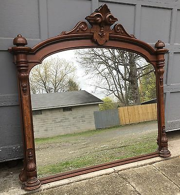 Renaissance Walnut And Burl Mantel Mirror