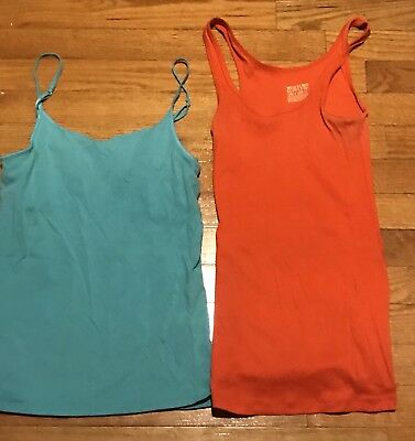 c3c264ccca4d6a Lot Of 2 Women s Mossimo Supply Company Layering Tank Tops Size Small