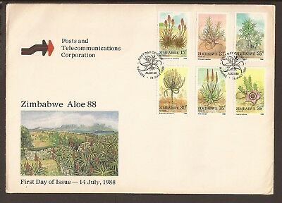 Zimbabwe 1988 FDC. Aloes and succulent plants