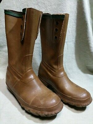 7d208a5844d VTG NORTHERNER BY Servus Boots Brown Rubber Insulated Work Rain 3 ...