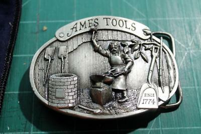 Ames Tools Blacksmith Belt Buckle 1981 limited edition Siskiyou Pewter Buckle