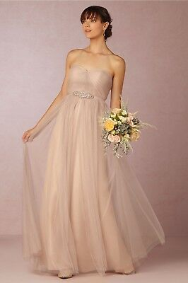 56ff3c0259e8c NEW BHLDN Annabelle Dress Jenny Yoo tulle maxi gown SZ 0 2 12 Sandstone  brown