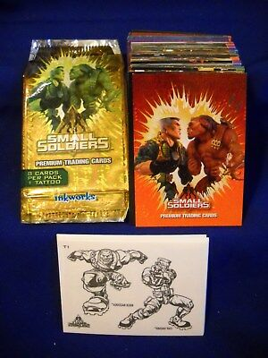 1998 Inkworks Small Soldiers complete 90 Base card & 9 Tattoo Set  w/ wrapper