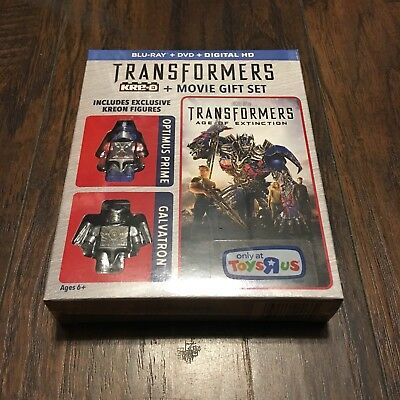 Transformers Age Of Extinction Blu-ray DVD Movie Gift Set (Toys R Us Exclusive)