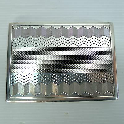 A Rare Lovely Art Deco Polish Hallmarked And Silver 800 Stamped Cigarette Box
